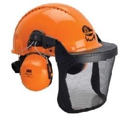 Forst-Schutzhelm G 3000M mit Gehörschutz und Visier in Edelstahl 5C für schwierige Arbeitsbedingunge
