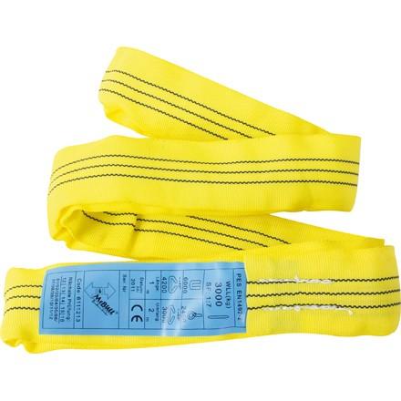 Rundschlinge Farbe gelb Belastbarkeit bis 3To. verschiedene Längen