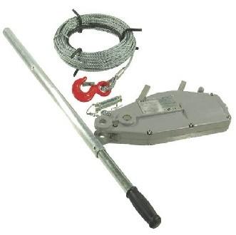 Seilzug mit Hebelrohr komplett mit Gehäuse aus Aluminium bis max. 800kg
