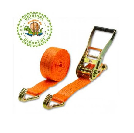 Zurrgurt 2-teilig, Breite 50mm, Länge 8m, Gurtlast 5000kg in DIN EN12195-2 geprüfter Qualität