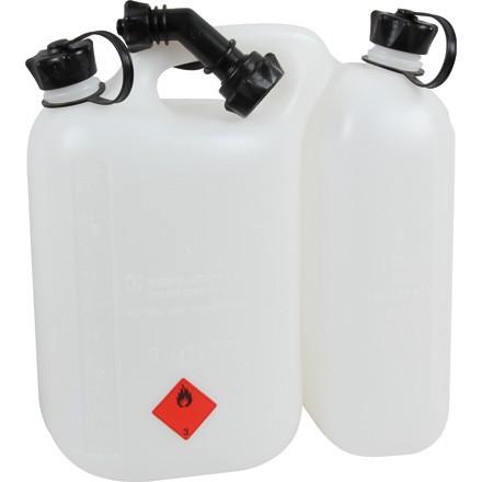 Doppelkanister mit 5,5l und 2,5l in Farbe transparent komplett mit Ausgießer in Top Qualität