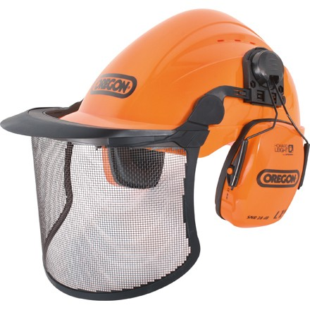 Forsthelm Oregon - Sicherheitshelm-Kombination Orange mit Gehörschutz und Visier