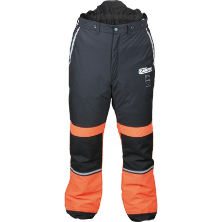 Schnittschutz-Bundhose der Marke Carlton Farbe schwarz/orange