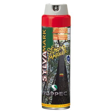 Forstmarkierspray von Soppec Strong Marker in Farbe rot 500ml für langfristige Markierung