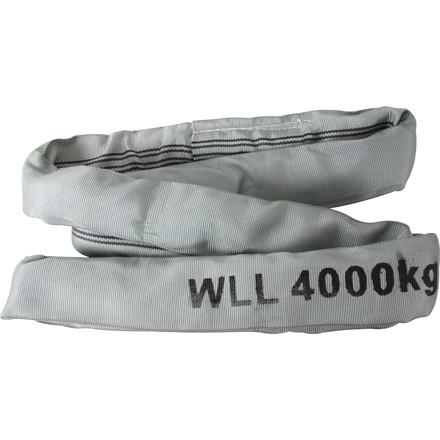 Rundschlinge in Farbe grau Belastbarkeit bis 4To. verschiedene Längen