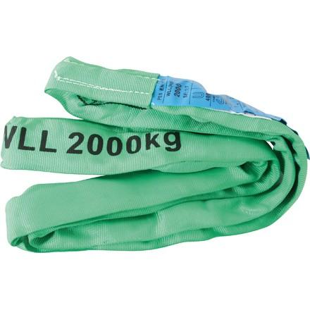 Rundschlinge Farbe grün Belastbarkeit bis 2To. verschiedene Längen