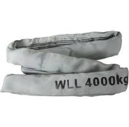 Rundschlinge Länge 2m, Gurtumfang 4m, Tragkraft 4000kg, Farbe grau mit Sicherheitsfaktor 7:1